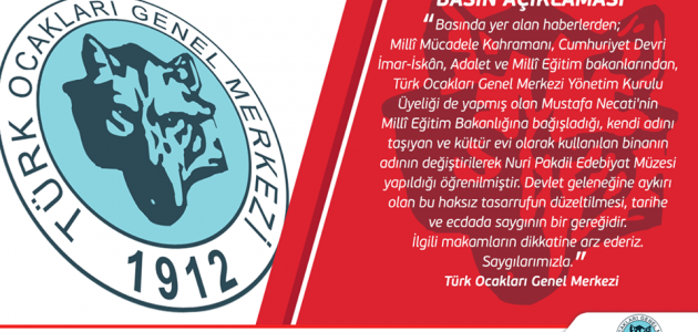 Mustafa Necati Kültür Evi'nin İsim Gaspı Hakkında