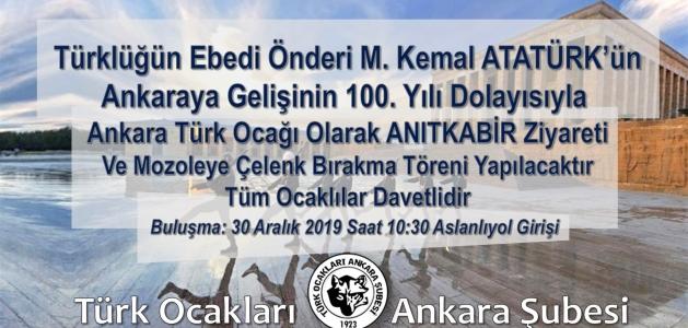 Anıtkabir Ziyareti: Atatürk'ün Ankara'ya Gelişinin 100. Yılı