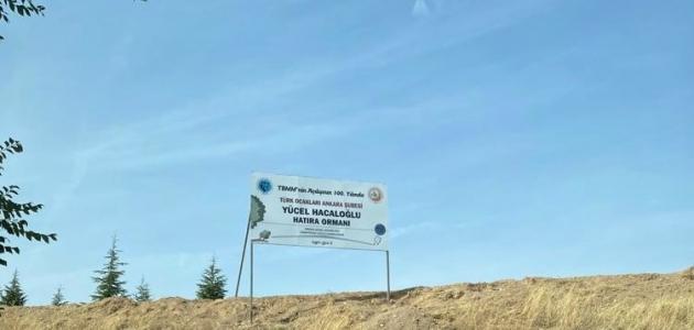 Ankara Türk Ocağı Yücel Hacaloğlu Hatıra Ormanı